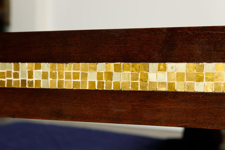 Mosaic Tile Coffee Table by Edward Wormley for Dunbar, circa 1950s, Signed For Sale 8