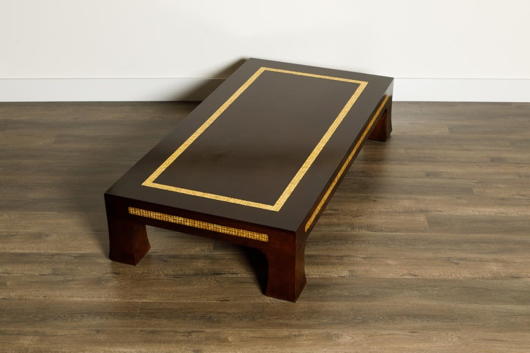 American Mosaic Tile Coffee Table by Edward Wormley for Dunbar, circa 1950s, Signed For Sale