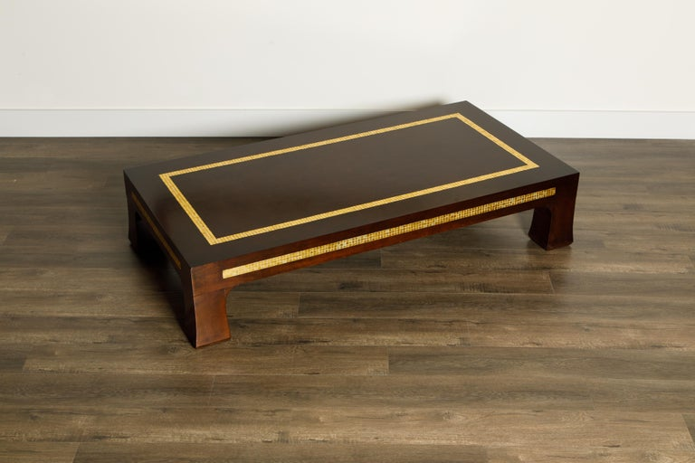 Glass Mosaic Tile Coffee Table by Edward Wormley for Dunbar, circa 1950s, Signed For Sale
