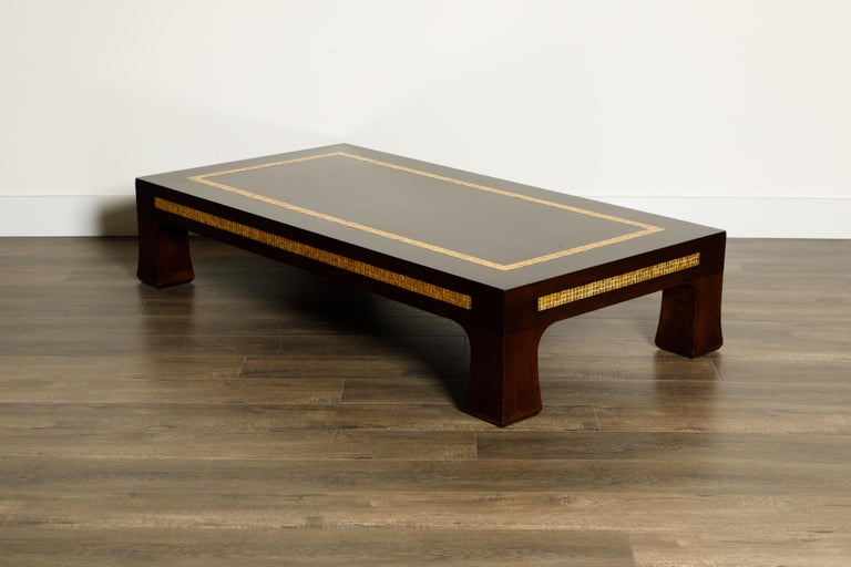 Mosaic Tile Coffee Table by Edward Wormley for Dunbar, circa 1950s, Signed For Sale 1