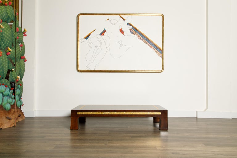 Mosaic Tile Coffee Table by Edward Wormley for Dunbar, circa 1950s, Signed For Sale 2
