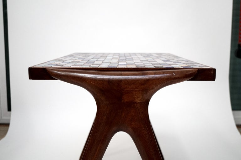 Mosaic Tile Side Table by Vladimir Kagan for Kagan-Dreyfuss, circa 1955 For Sale 7