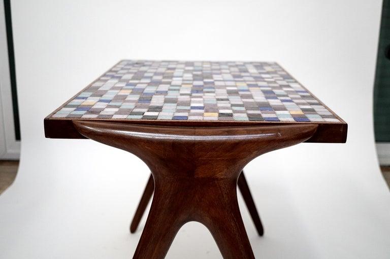 Mosaic Tile Side Table by Vladimir Kagan for Kagan-Dreyfuss, circa 1955 For Sale 8