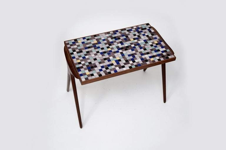 Mid-Century Modern Mosaic Tile Side Table by Vladimir Kagan for Kagan-Dreyfuss, circa 1955 For Sale