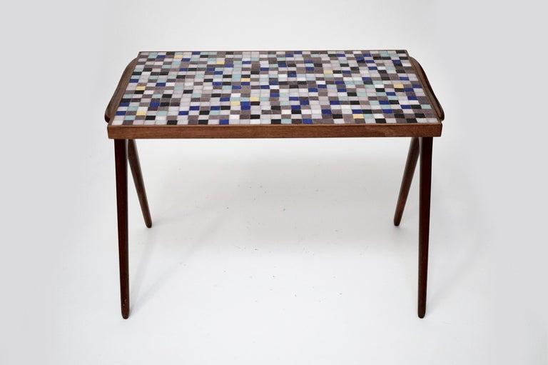American Mosaic Tile Side Table by Vladimir Kagan for Kagan-Dreyfuss, circa 1955 For Sale