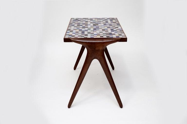 Mosaic Tile Side Table by Vladimir Kagan for Kagan-Dreyfuss, circa 1955 For Sale 1