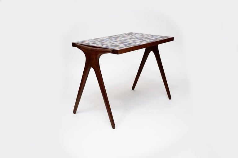 Mosaic Tile Side Table by Vladimir Kagan for Kagan-Dreyfuss, circa 1955 For Sale 2