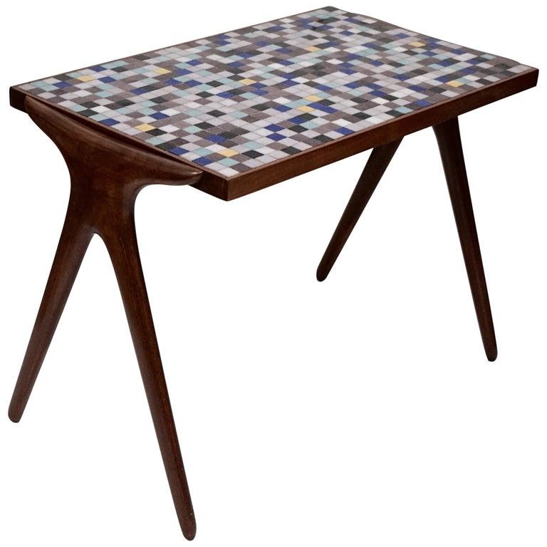 Mosaic Tile Side Table by Vladimir Kagan for Kagan-Dreyfuss, circa 1955 For Sale