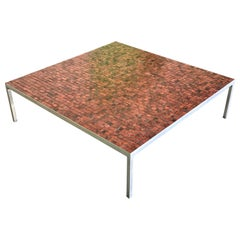 Architectural Mosaic Top Coffee Table, 20th Century