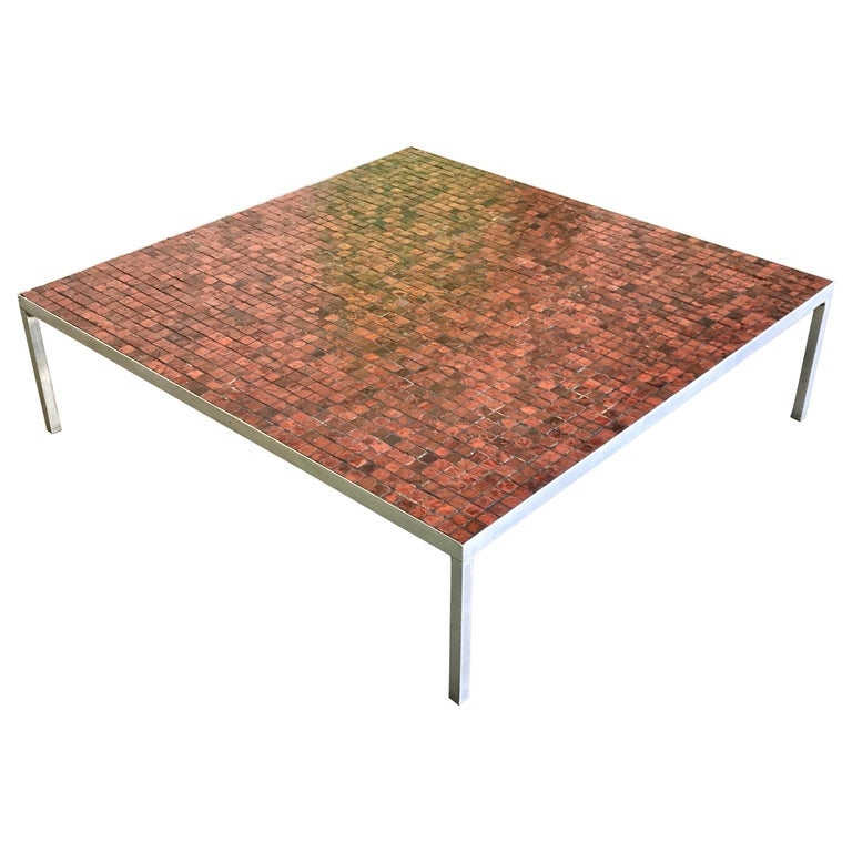 Mosaic Top Low Coffee Table, 20th Century For Sale