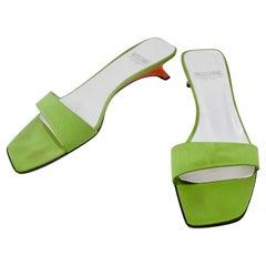 Moschino 1990s Green Kitten Heels