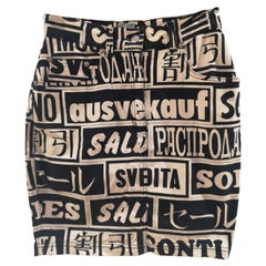 Moschino black and white Sales skirt