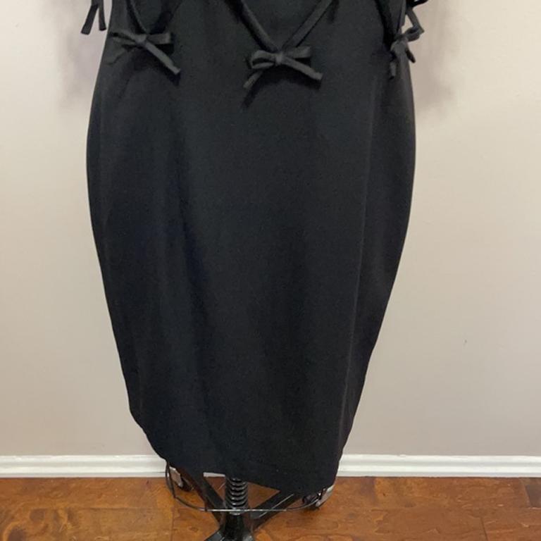 Women's Moschino Black Bow Tie Tuxedo Dress NWT For Sale