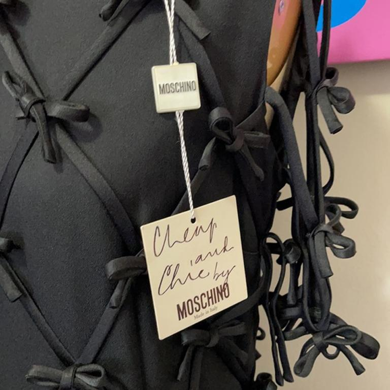 Moschino Black Bow Tie Tuxedo Dress NWT For Sale 1