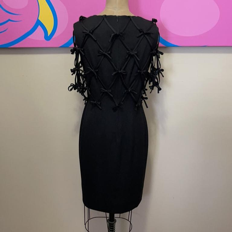 Moschino Black Bow Tie Tuxedo Dress NWT For Sale 3