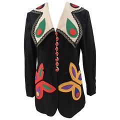 Moschino black butterflies blazer