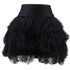 Moschino black feathers skirt