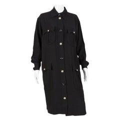 Moschino Black Midi Shirt Dress