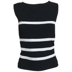 Moschino Black & White Stripe Knit Bare Back Top