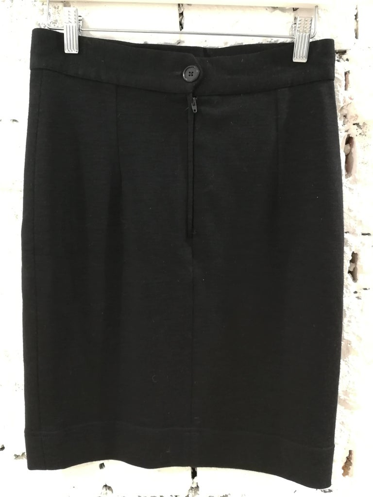 Moschino Black Wool Skirt In Excellent Condition For Sale In Capri, IT