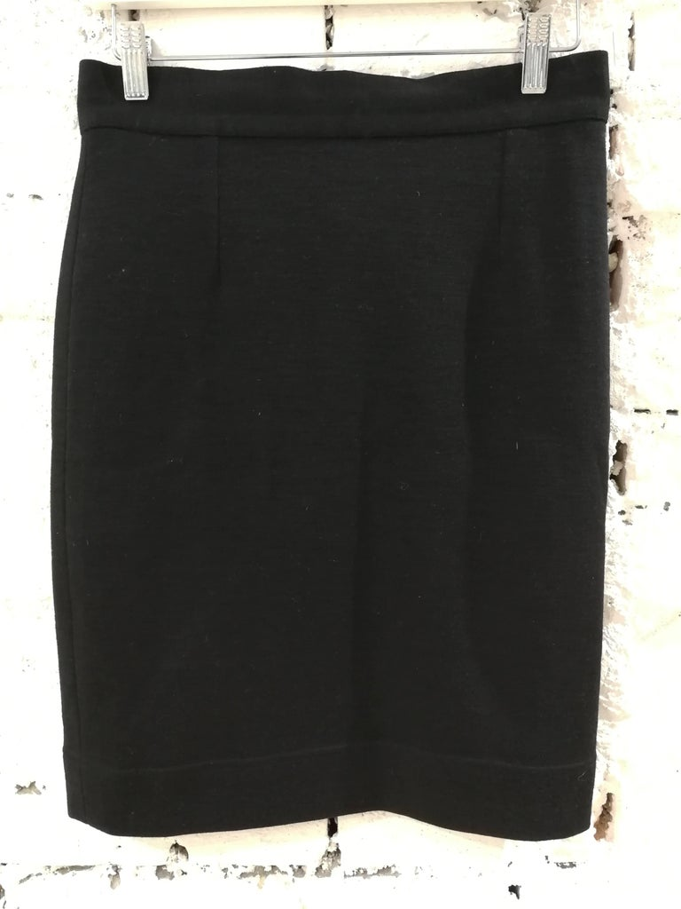 Women's Moschino Black Wool Skirt For Sale