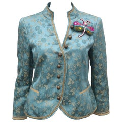 Moschino 'Bollywood' Brocade Jacket With Dragonfly Motif