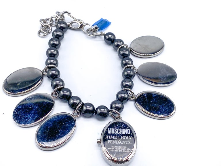 MOSCHINO Bracelet Vintage 2000s Time 4 Holy For Sale 3