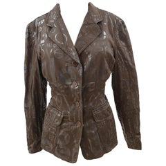 Moschino brown allover jacket