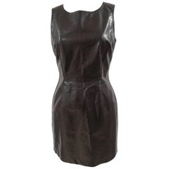 Moschino brown leather dress