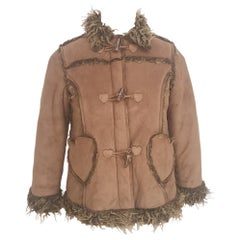 Moschino brown suede jacket