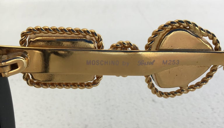 Moschino By Persol M253 Black Vintage Jeweled Sunglasses 3