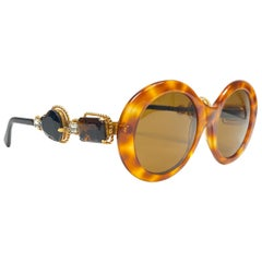 Moschino By Persol M253 Vintage Tortoise Jewelled Lady Gaga Sunglasses, 1990