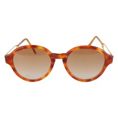 Moschino by Persol Vintage Round Sunglasses Mod M06 53mm New Old Stock
