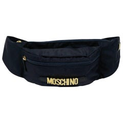 Moschino by Redwall Vintage Navy Blue Fanny Pack
