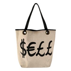 Moschino Cheap and Chic Canvas Sell and Buy Tote Shopping Bag