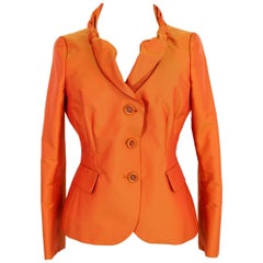 Moschino Cheap and Chic Orange Fitted Classic Dinner Jacket