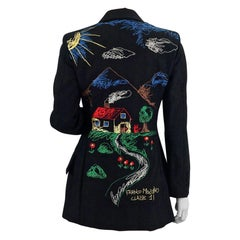MOSCHINO CHEAP and CHIC Village Scenery Embroidered Novelty Blazer Jacket