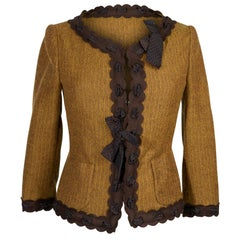 Moschino Cheap and Chic Vintage Jacket 3/4 Sleeves Bows 42 /  6