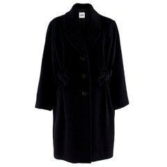 Moschino Cheap & Chic Black Alpaca Wool Blend Coat GB 12