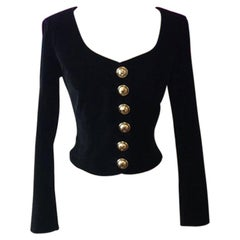 Moschino Cheap Chic Black Stretch Velvet Jacket