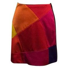 Moschino Cheap Chic Color Block Mini Skirt