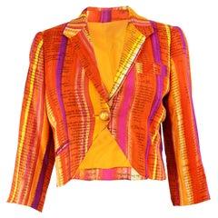Moschino Cheap & Chic 'Recipe' Watercolor Stripe Print Cropped Jacket, 1997