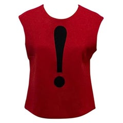 Moschino Cheap Chic Red Wool Exclamation Mark Top