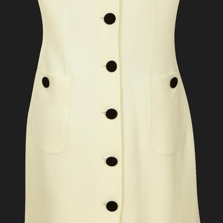 Moschino Cheap & Chic Shift Dress 1990s Vintage 'Back to Front' + Double Collar In Excellent Condition For Sale In , GB