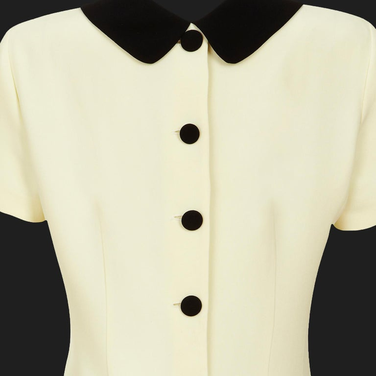 Women's Moschino Cheap & Chic Shift Dress 1990s Vintage 'Back to Front' + Double Collar For Sale