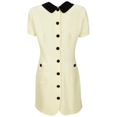 Moschino Cheap & Chic Shift Dress 1990s Vintage 'Back to Front' + Double Collar