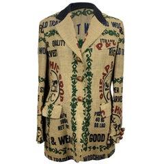 Moschino Cheap & Chic Vintage Beige Jute Blazer Size 46 IT