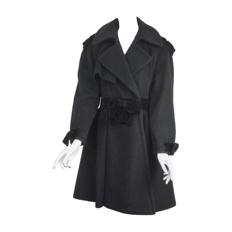 Moschino Cheap & Chic Wool Coat Bows & Bows  For Sale
