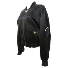 Moschino Coin Purse Black Bomber Jacket c. 1990–1991
