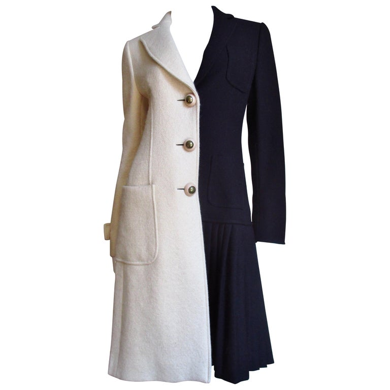 Moschino Color Block Coat For Sale
